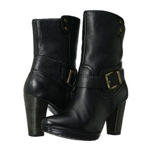 Indigo by Clarks 'Lida Sayer' Black Leather Boots
